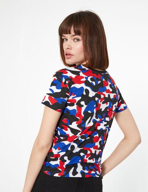tee-shirt bad heart club bleu blanc rouge