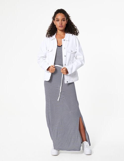Robe longue avec ceinture
