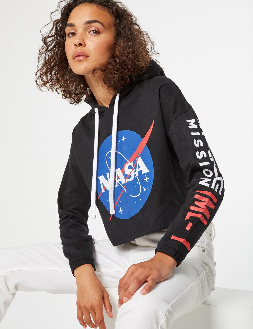 Sweat crop à capuche NASA femme • Jennyfer