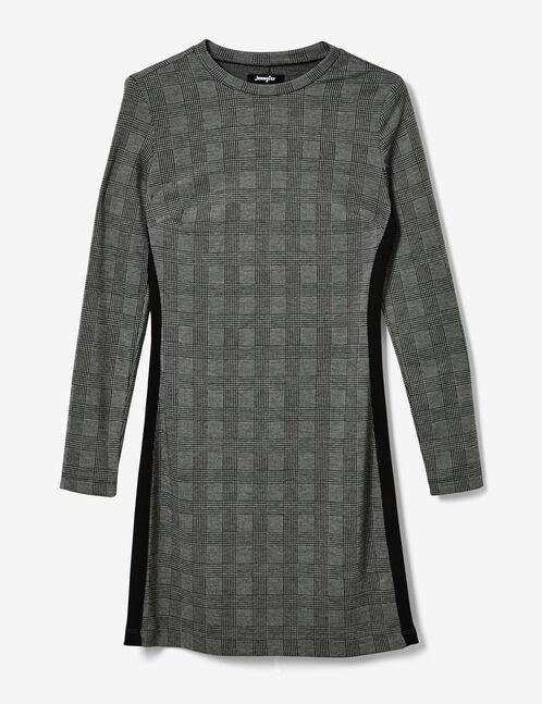 robe avec bandes côtés grise