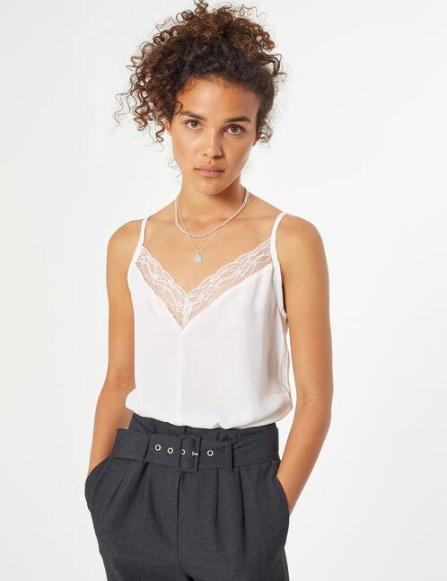 blouse avec dentelles