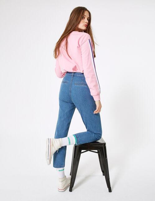 Blue paperbag jeans