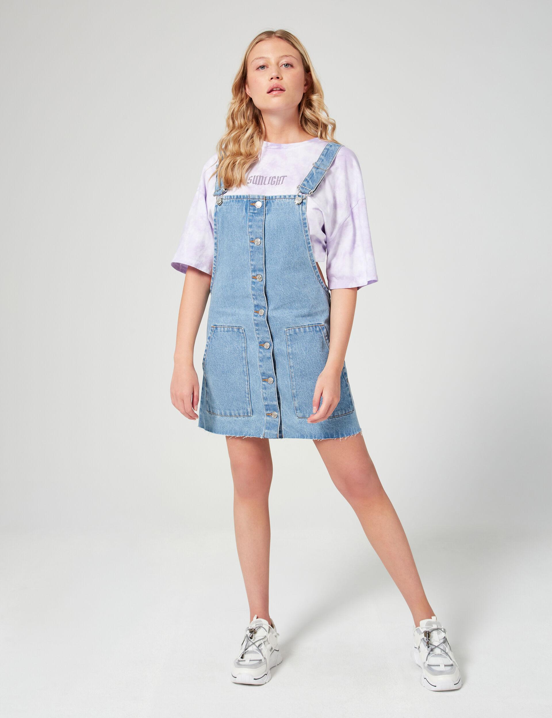 Robe chasuble en jean