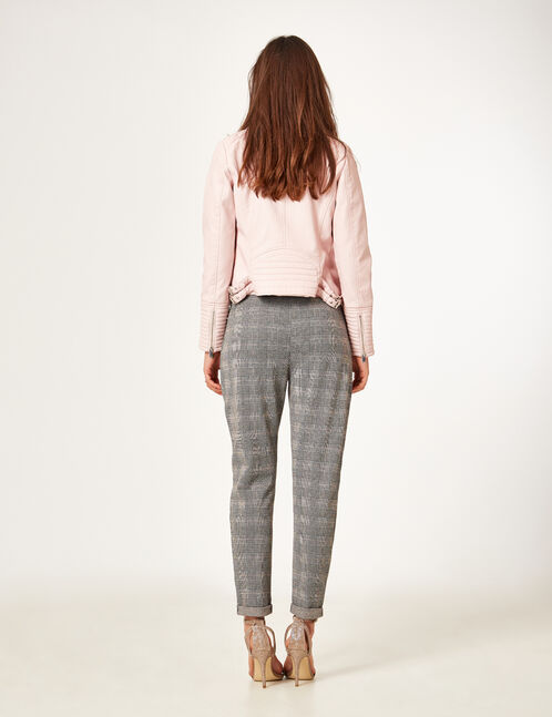 Grey glen check trousers