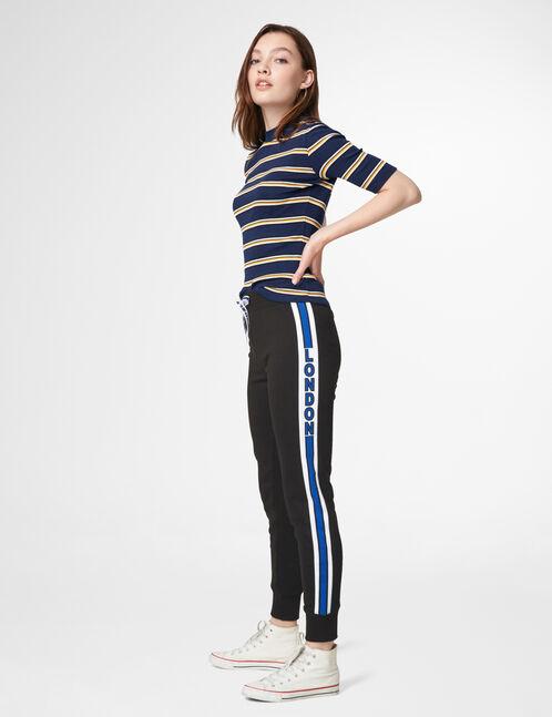 jogging slim london noir et bleu