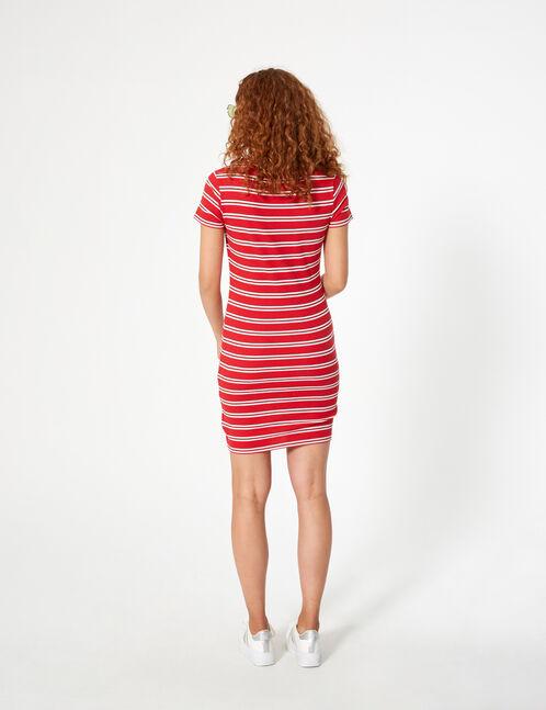 robe côtelée rayée