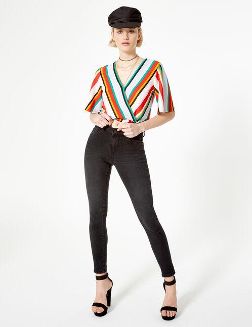 Black low-rise push-up jeans