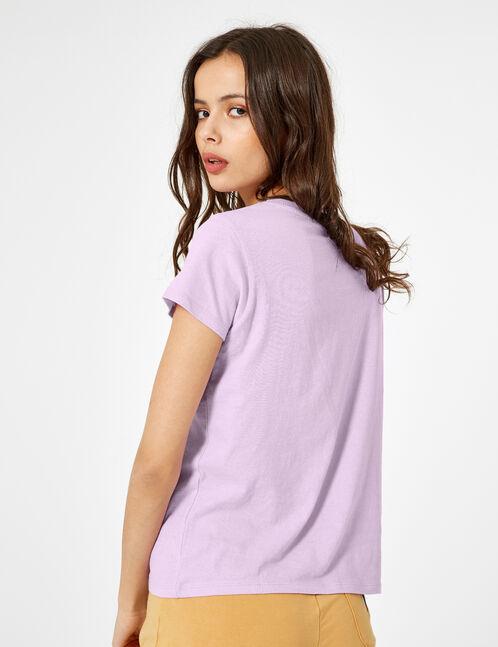 tee-shirt basic mauve