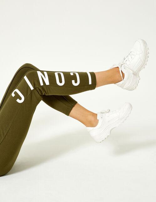 jogging slim iconic kaki