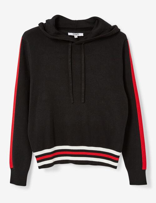 Black and red hoodie