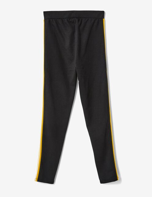 legging rayures côtés noir, jaune et blanc