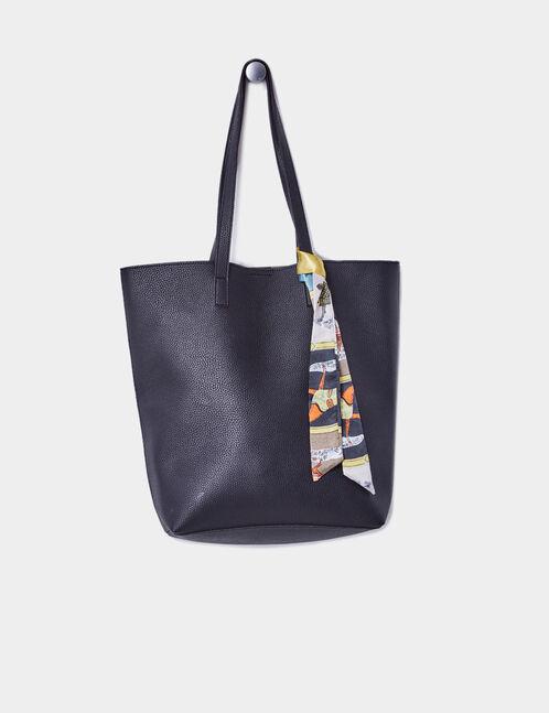 sac cabas avec foulard noir