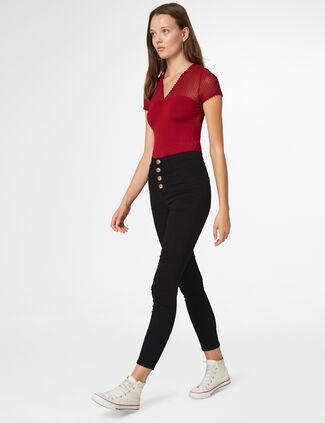 pantalon skinny taille haute noir ... 4e8cea89d0c3