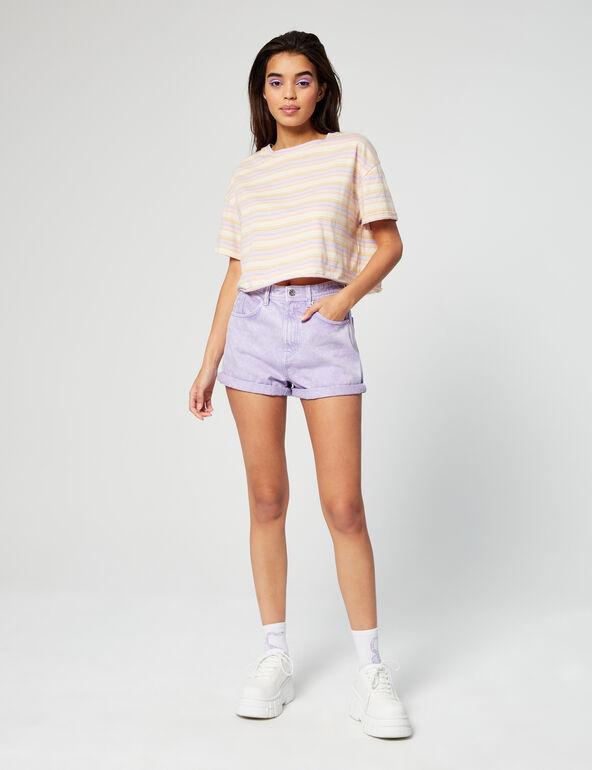 High-waisted mum shorts