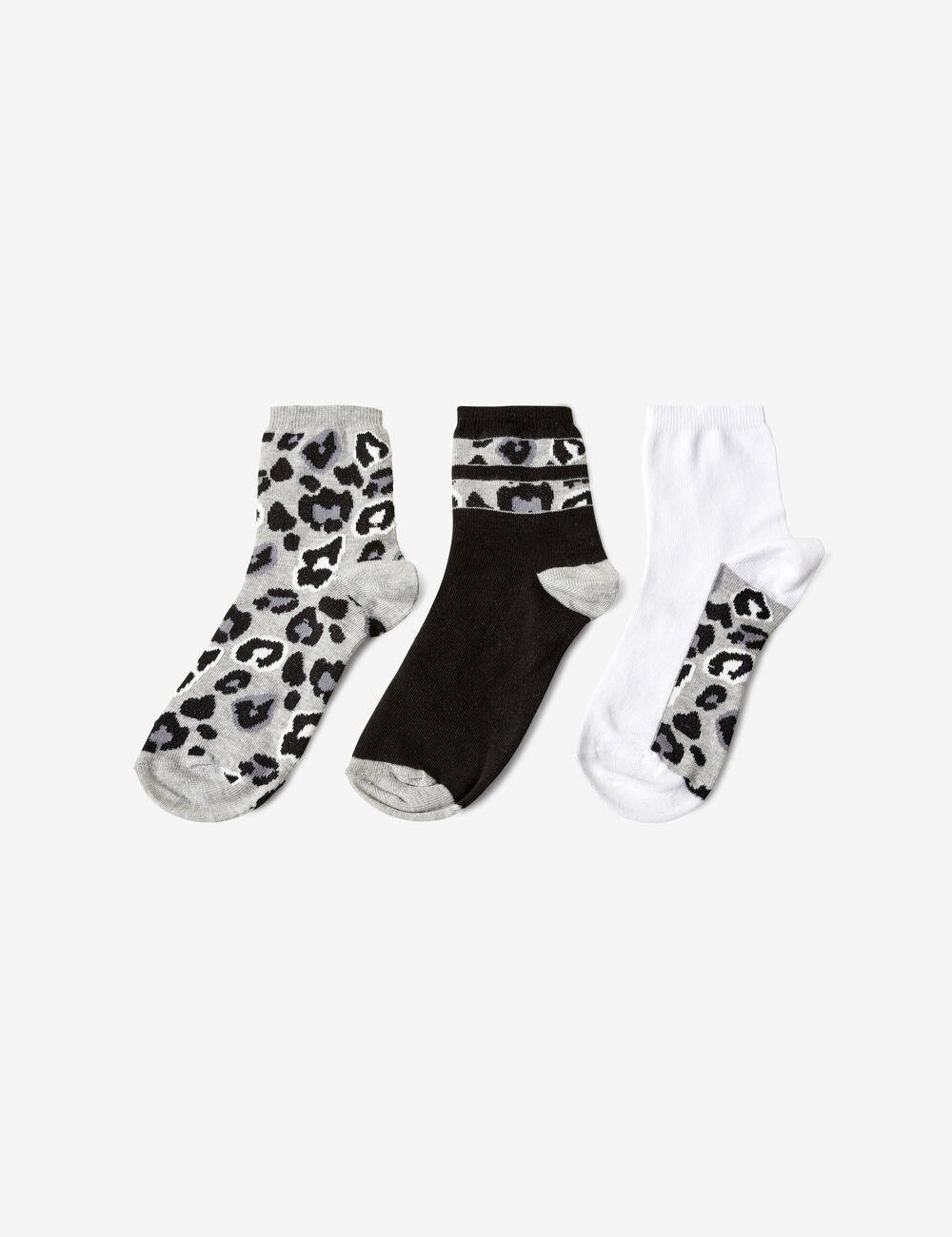 36a7c5fe974 Chaussettes léopard blanches