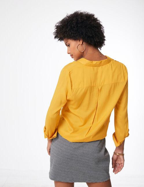 Basic ochre shirt