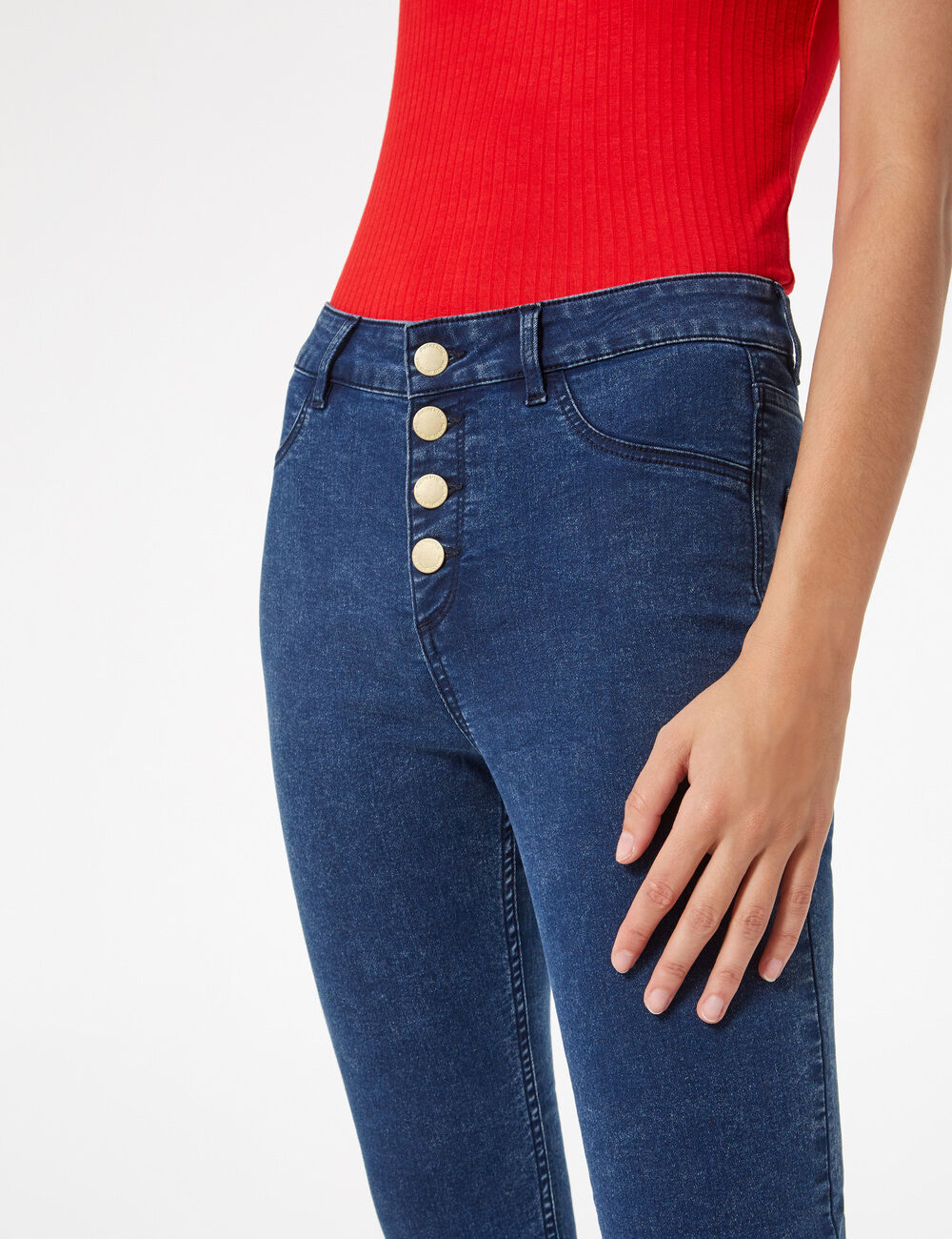 new high quality new photos good quality Jegging taille haute femme • Jennyfer