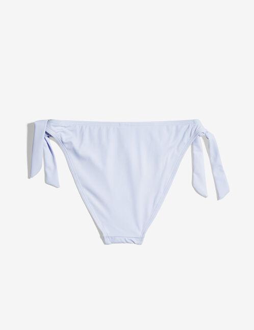 Mauve side-tie bikini briefs