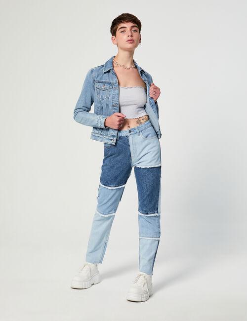 Jean mom patchwork