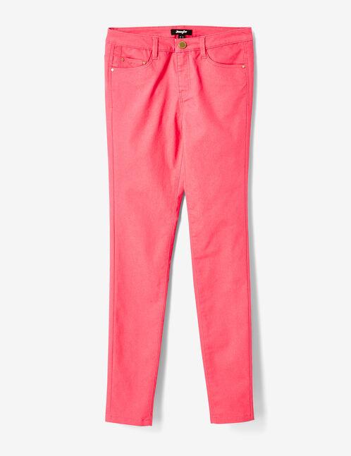pantalon super skinny fuchsia