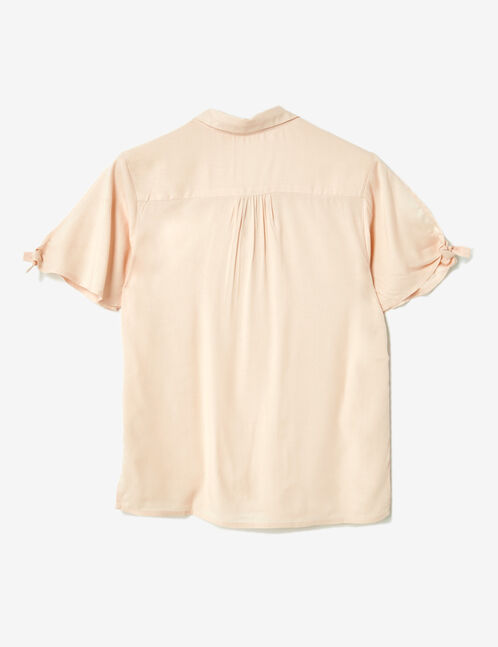 Light pink printed blouse