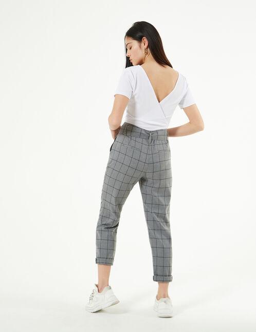 checked dress pants