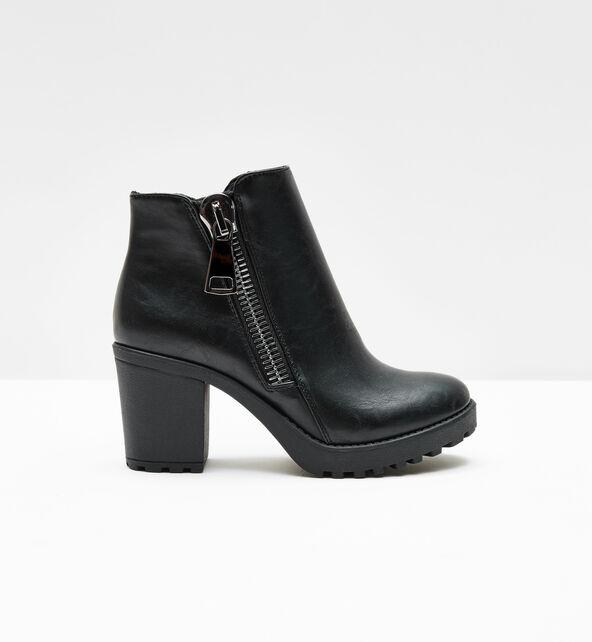 bottines à zips noires