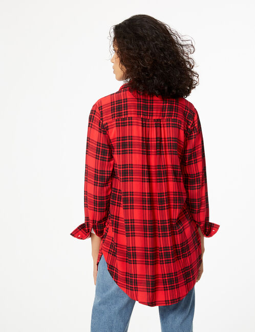 flowing checked shirt