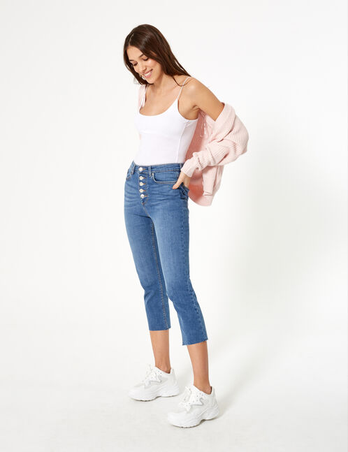 Jean straight droit bleu medium