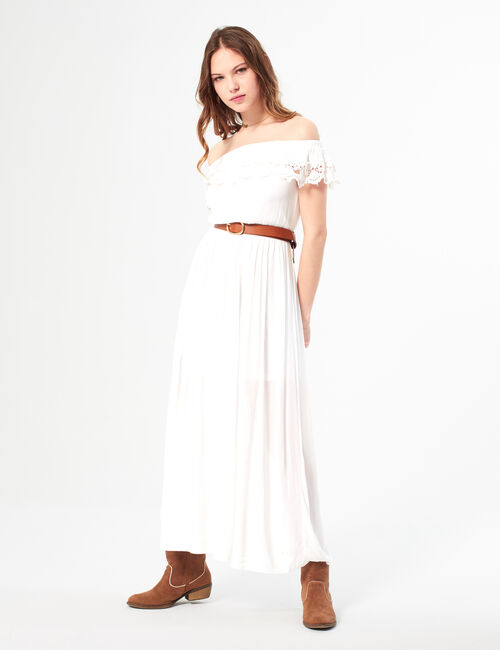 Long off-the-shoulder dress