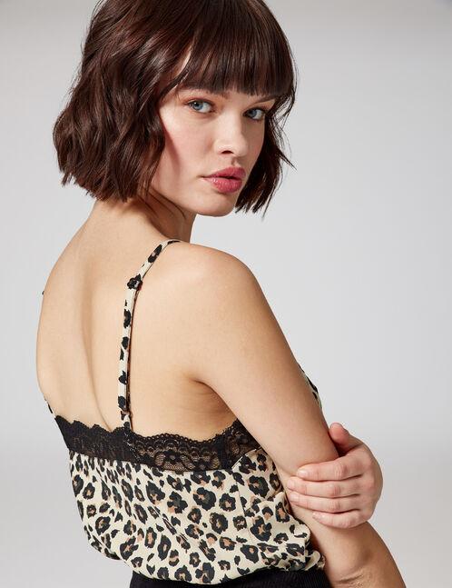 blouse léopard beige