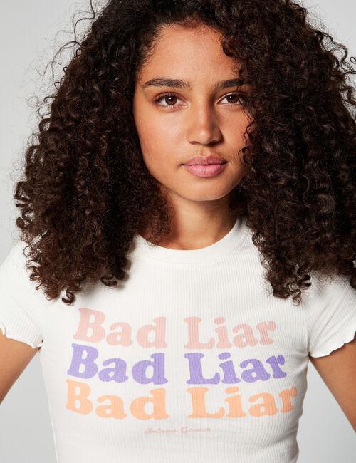 Selena Gomez ribbed T-shirt