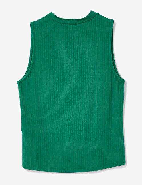 tee shirt avec ouverture vert