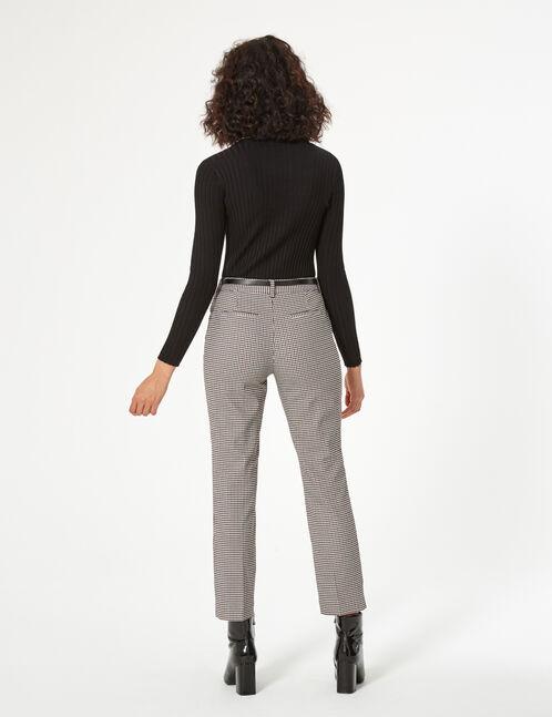 gingham dress pants