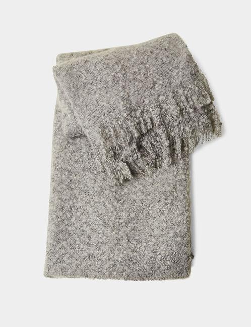 écharpe texturée gris chiné