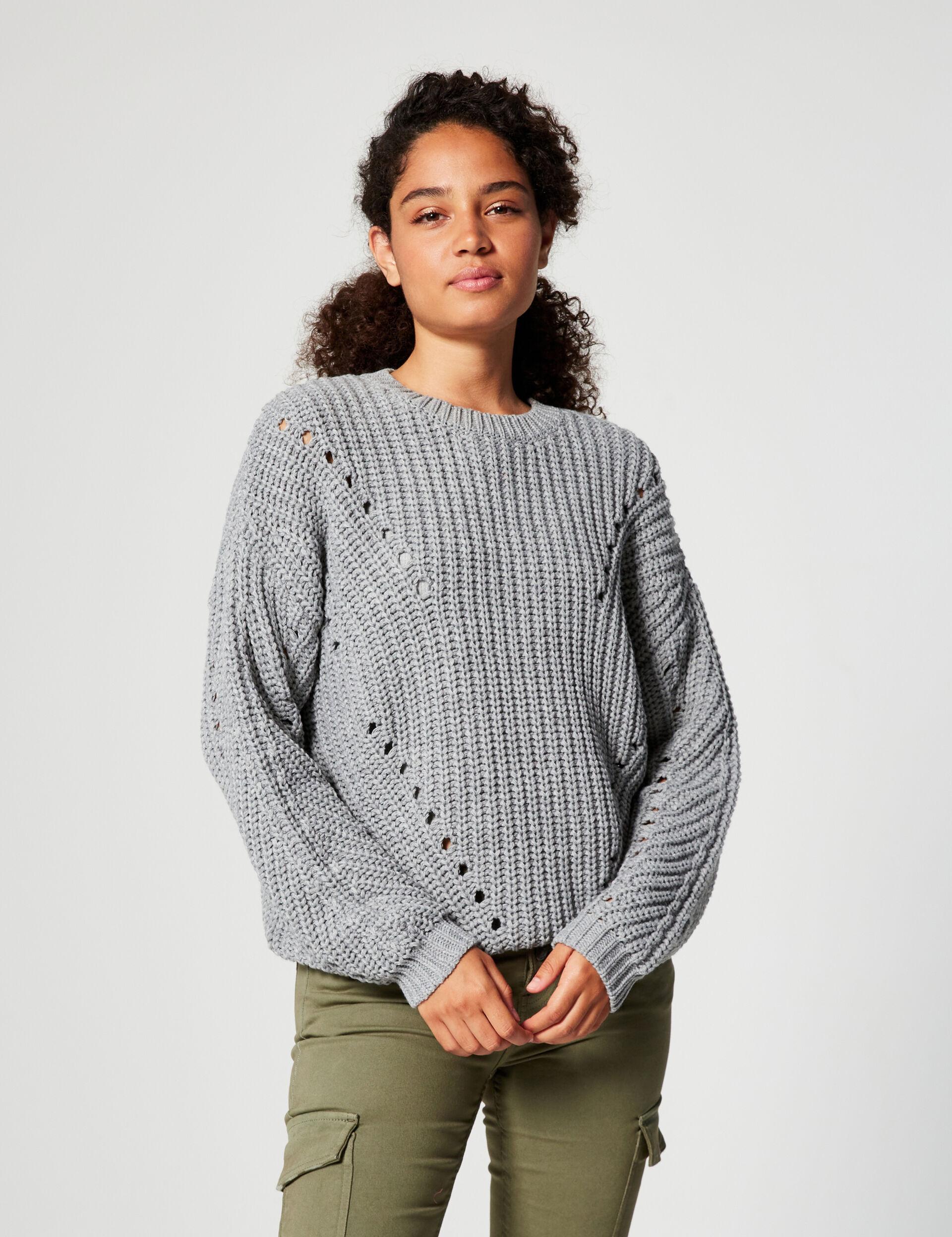 Ribbed loose-fit jumper
