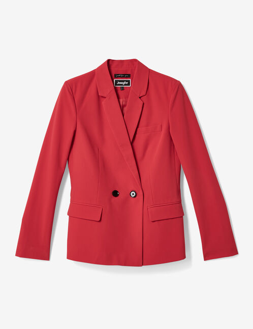 blazer 2 boutons rouge