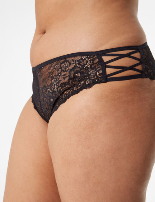 Lace ladypants with strap detail