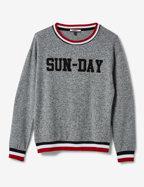 """Grey marl """"sun-day"""" top"""