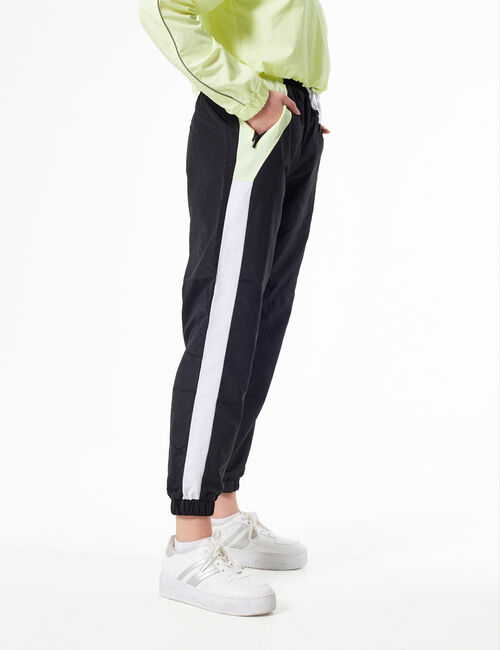 Colour-block joggers