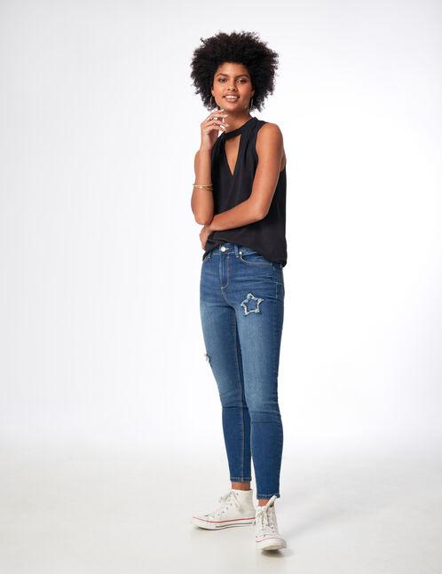 jean skinny avec étoiles medium blue