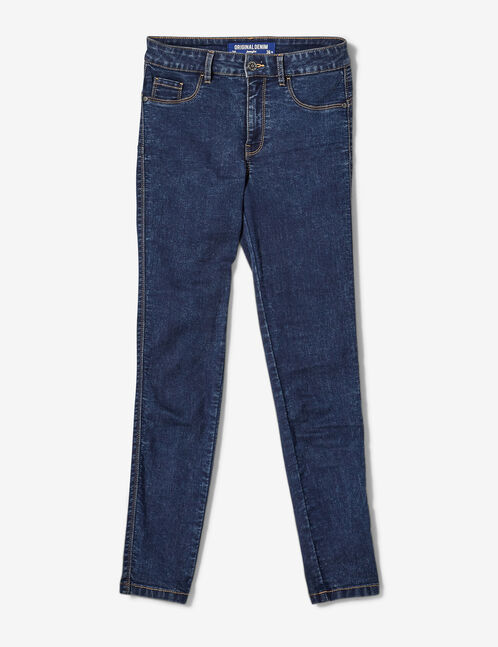 Dark blue mid-rise jeggings