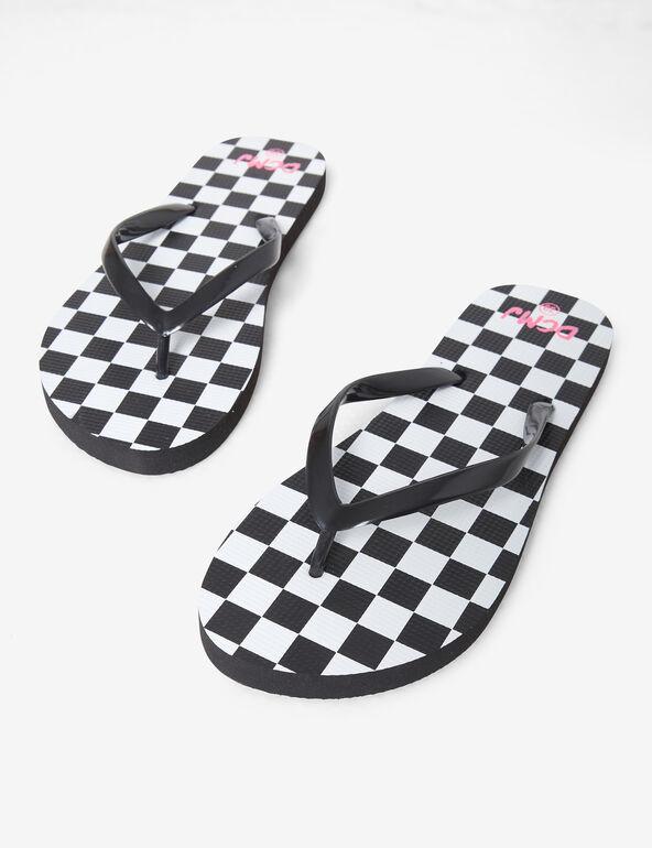 Printed beach flip flops