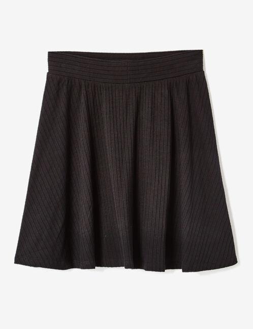 jupe patineuse côtelée noire