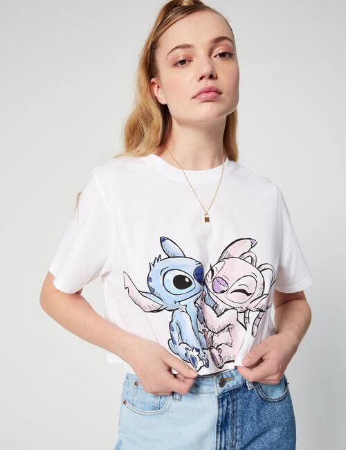 Tee-shirt court Disney Stitch