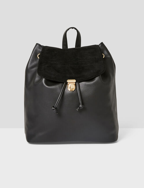 sac à dos bi-matière noir