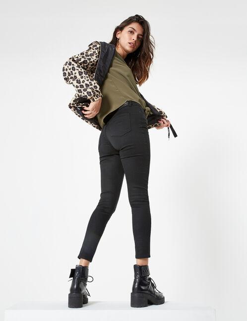 pantalon avec cut noir