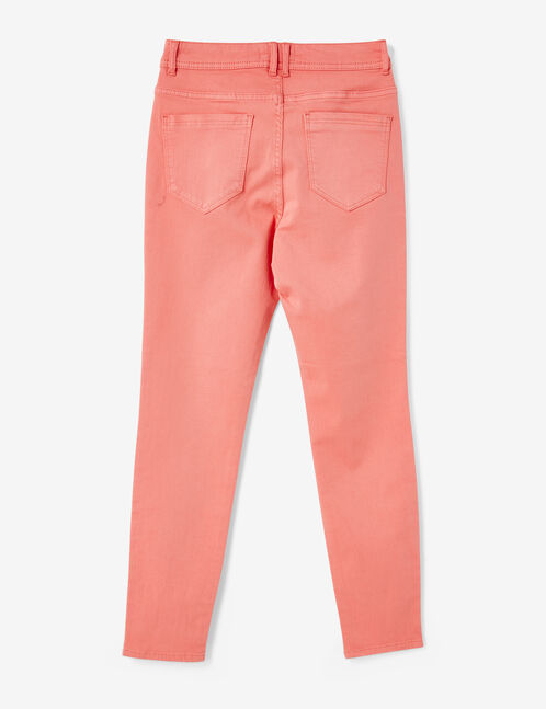 High-waisted coral trousers