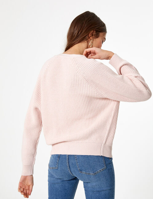 Light pink buttoned cardigan