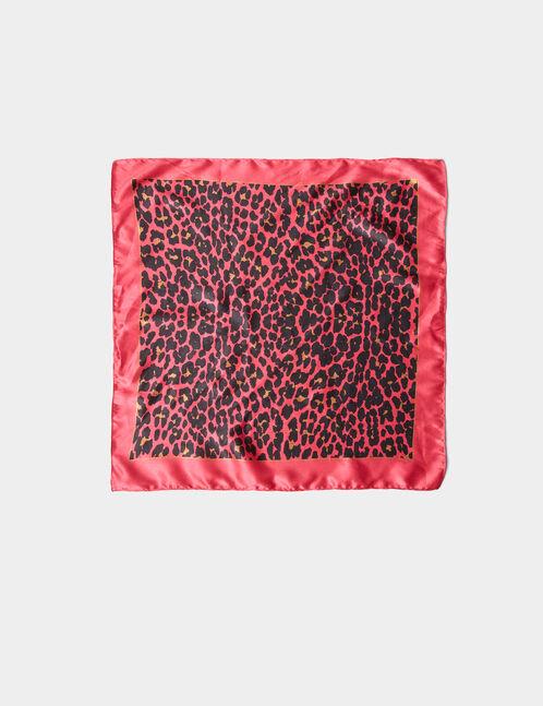 bandana léopard rose